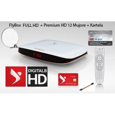 Premium 12 Mujore + FlyBox FULL HD + Antena + Monoblock 3 satelit