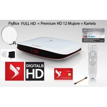 Premium 12 Mujore + FlyBox + Antena + Monoblock 3 satelit