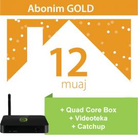 Tibo Gold 12 Mujore + IPTV Quad Core Box