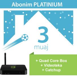 IPTV Quad Core Box + 3 Muaj Platinium