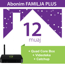 Tibo Familja Plus 12 Mujore + IPTV Quad Core Box