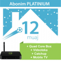 Tibo Platinium 12 Mujore + IPTV Quad Core Box + Mobile TV