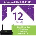 Tibo Familja Plus 12 Mujore + IPTV Quad Core Box + MOBILE TV